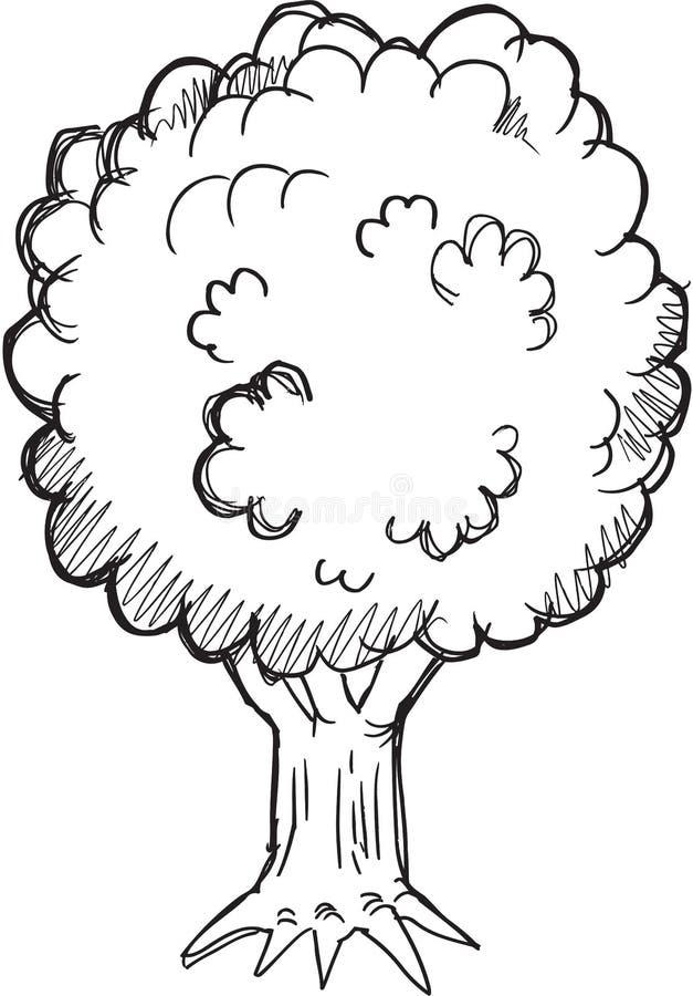 Doodle drzewa wektor royalty ilustracja