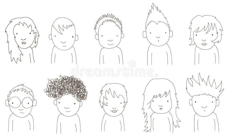 doodle dzieciaki ilustracji