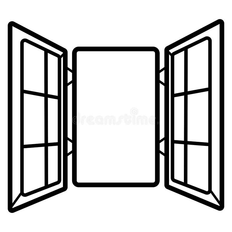 Открыть двери вручают вычерченный значок doodle плана бесплатная иллюстрация