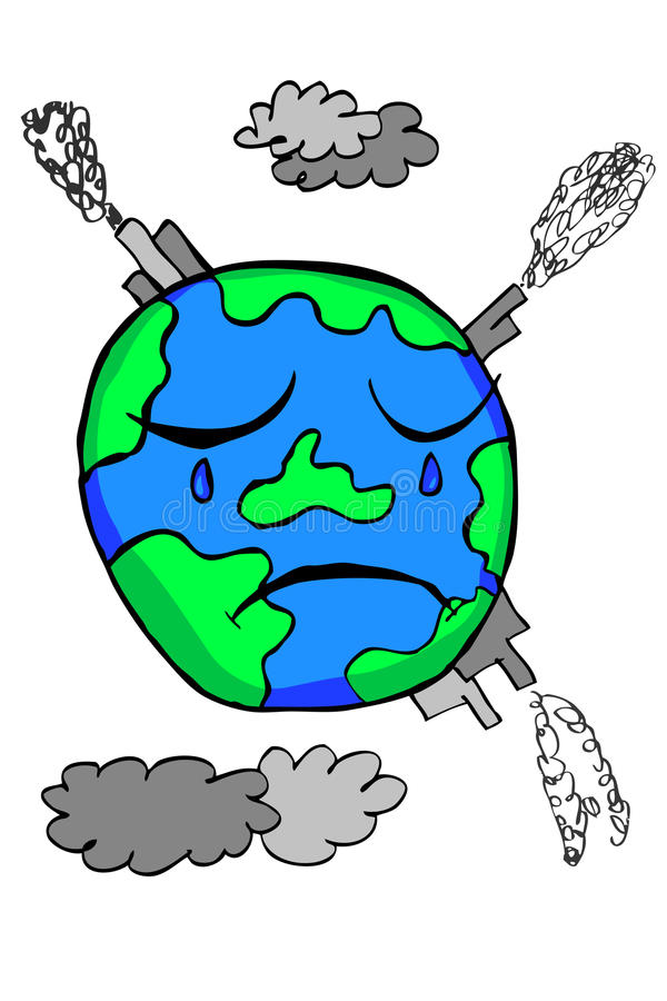 Free Doodle Earth - Pollution Stock Photo - 44827460