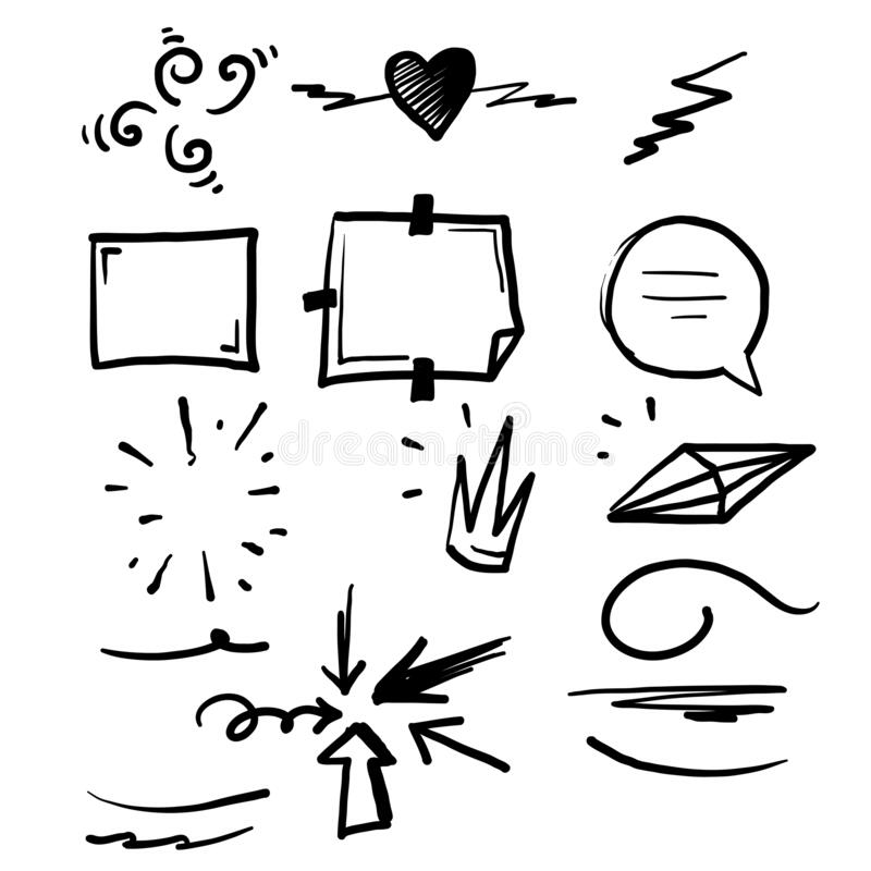 Free Doodle Element Illustration For Your Design Or Text Vector Royalty Free Stock Image - 189170306