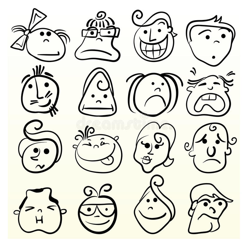Download Doodle Emotion Art Stock Image - Image: 13156901