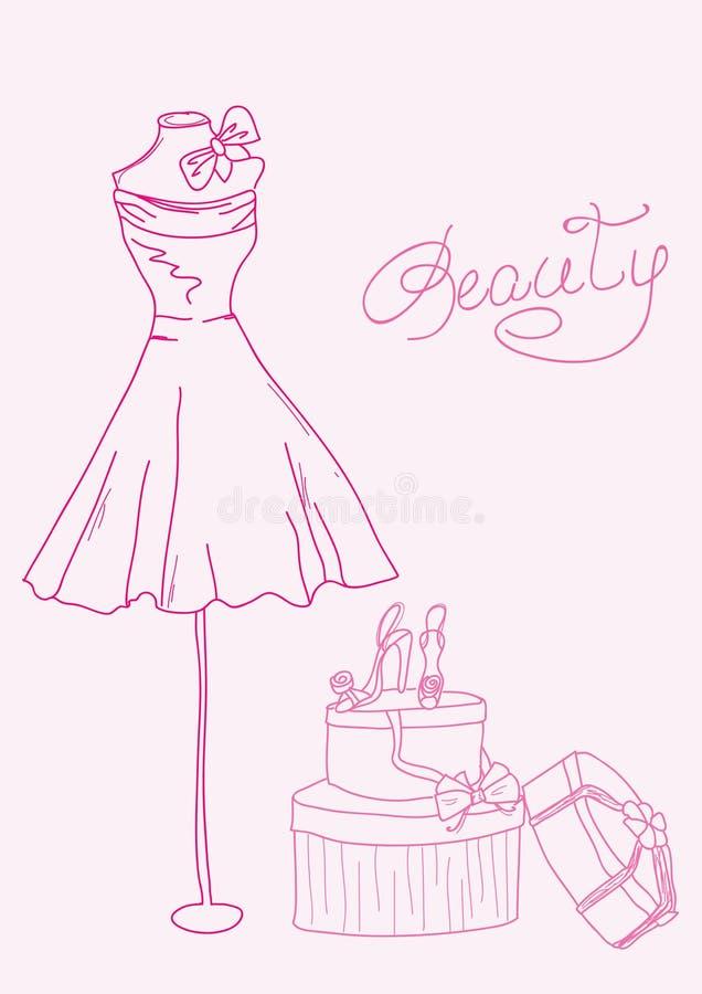 Doodle estilizado da forma ilustração stock