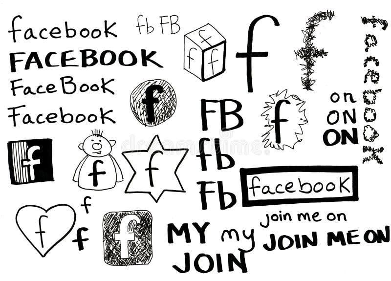 doodle facebook ilustracji