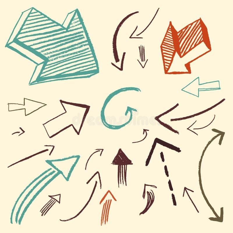 Doodle fissato - frecce illustrazione di stock