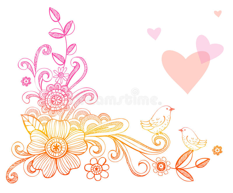 Download Doodle Flowers stock vector. Illustration of background - 18001786