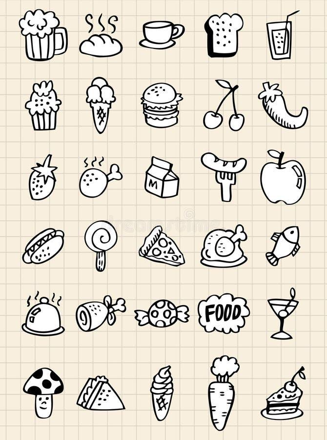 Doodle food drink,hand draw vector illustration