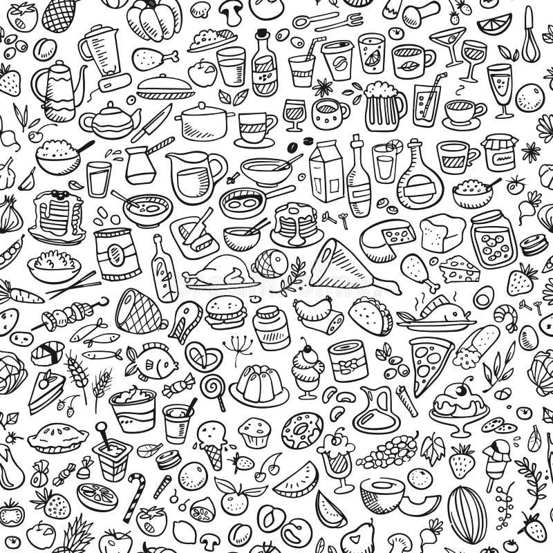 Doodle food stock illustration