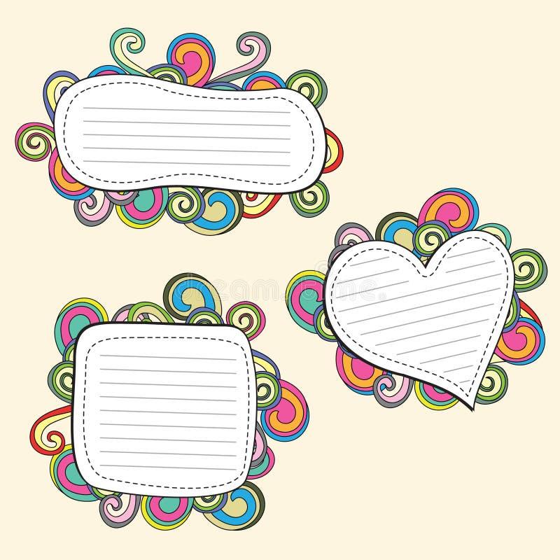 Download Doodle frame stock illustration. Image of labels, design - 15405340