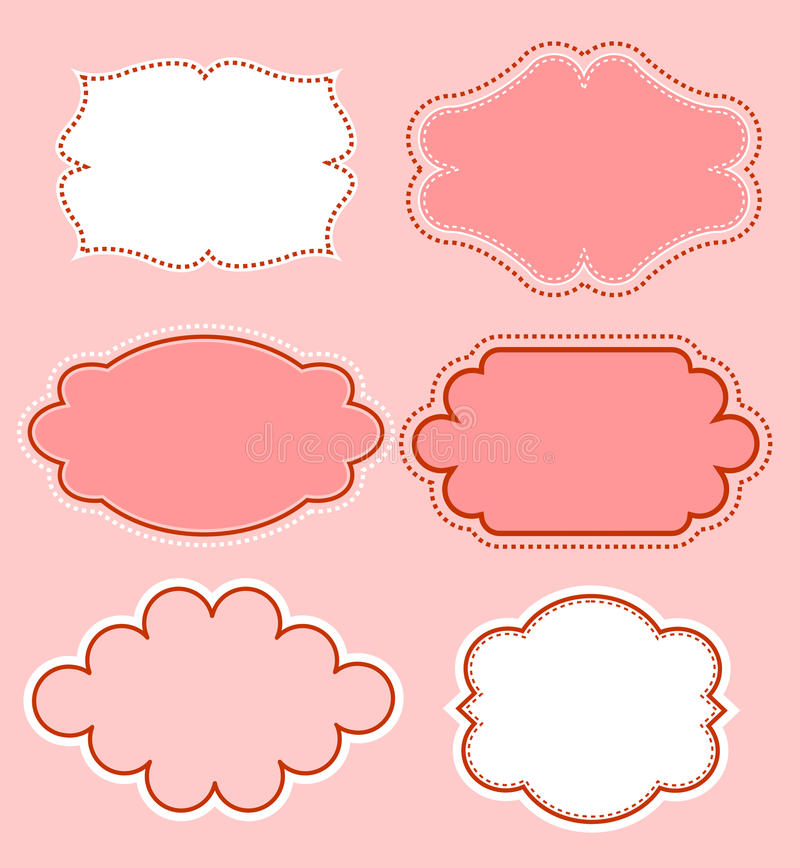 Download Doodle frame collection stock vector. Image of beautiful - 24254672