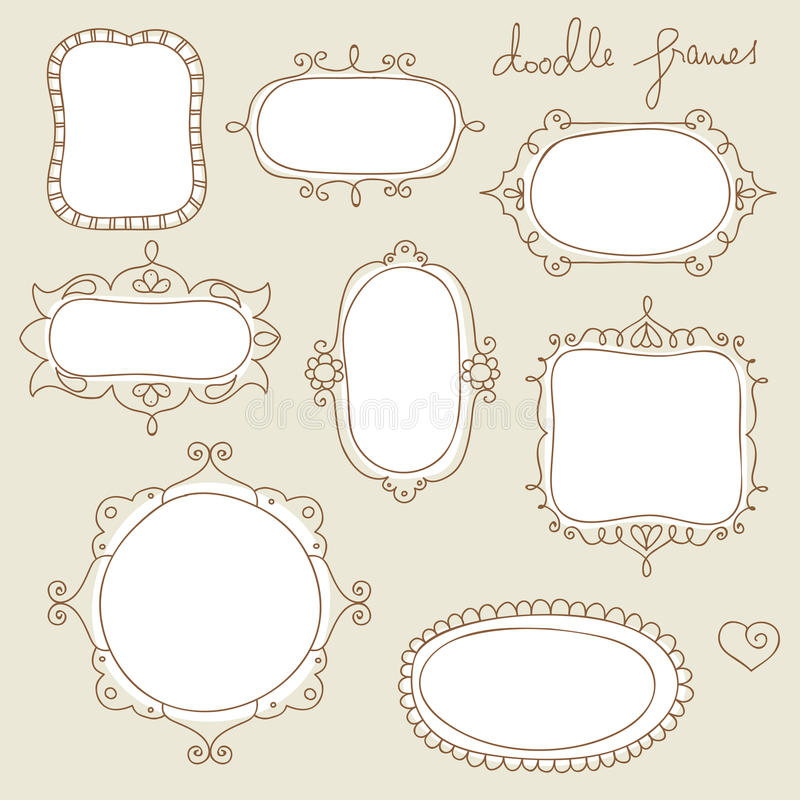 Doodle Frames Royalty Free Stock Photography