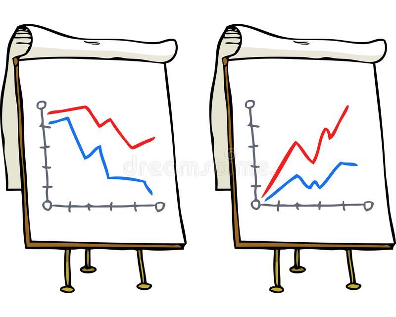 Doodle growth chart. On a white background vector illustration stock illustration