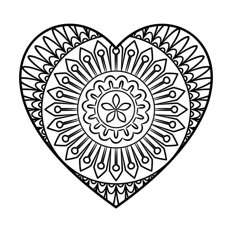doodle mandala stock vector illustration of flower