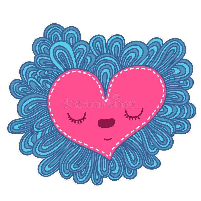 Doodle heart. Valentines day vector illustration vector illustration