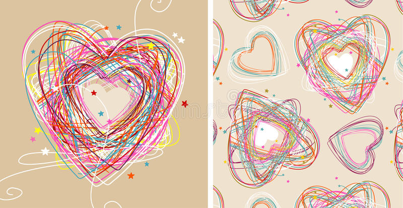 Download Doodle hearts stock vector. Image of graphic, drawing - 18816284