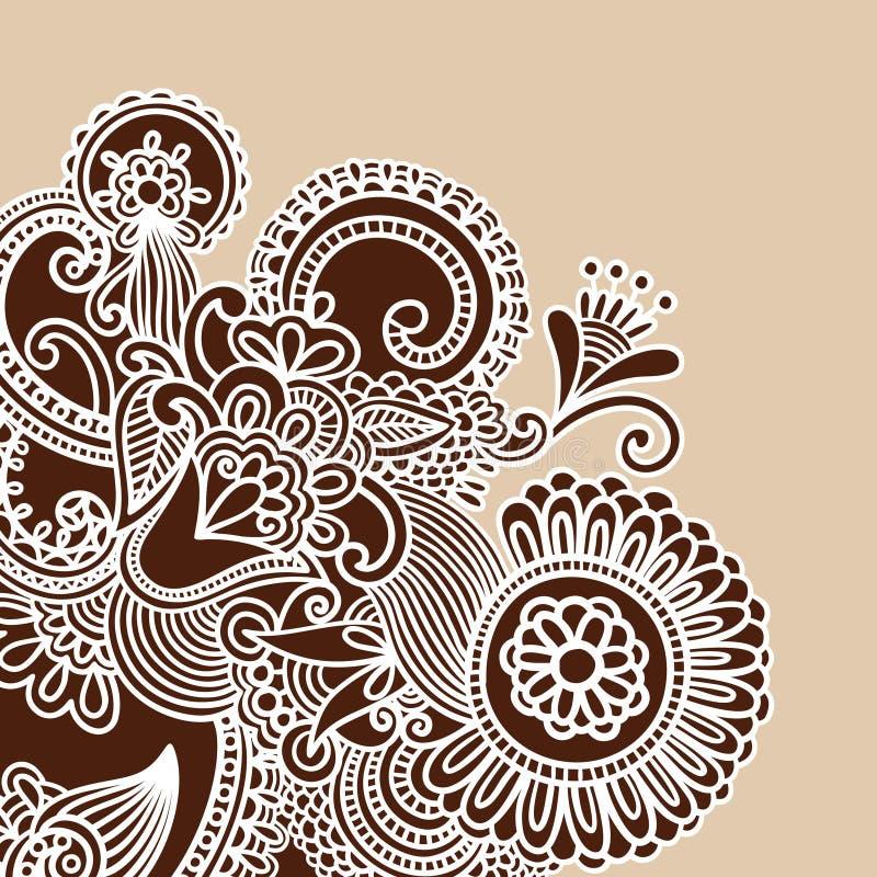 doodle henna διάνυσμα απεικόνισης διανυσματική απεικόνιση