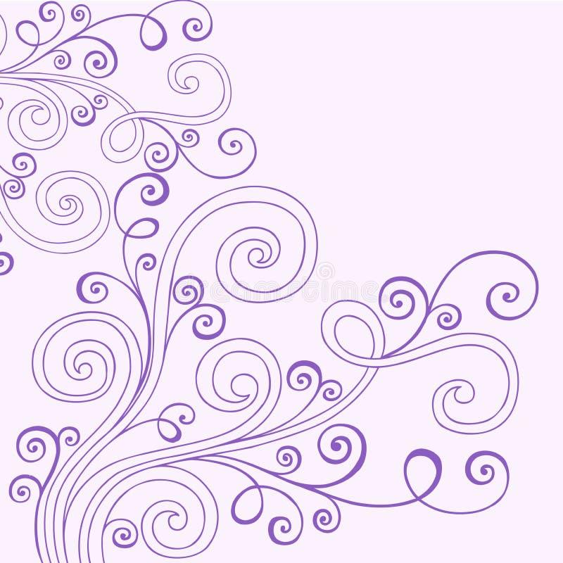 doodle henna διάνυσμα στροβίλων απεικόνιση αποθεμάτων