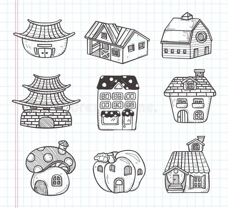 Doodle house icon royalty free illustration