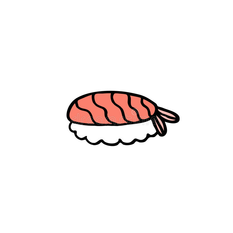 Doodle icon. sushi, asian food. vector illustration. Doodle icon. sushi asian food royalty free illustration