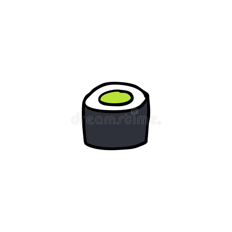 Doodle icon. sushi, asian food. vector illustration. Doodle icon. sushi asian food vector illustration
