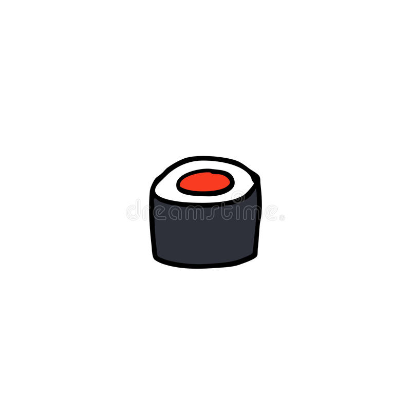 Doodle icon. sushi, asian food. vector illustration. Doodle icon. sushi asian food stock illustration