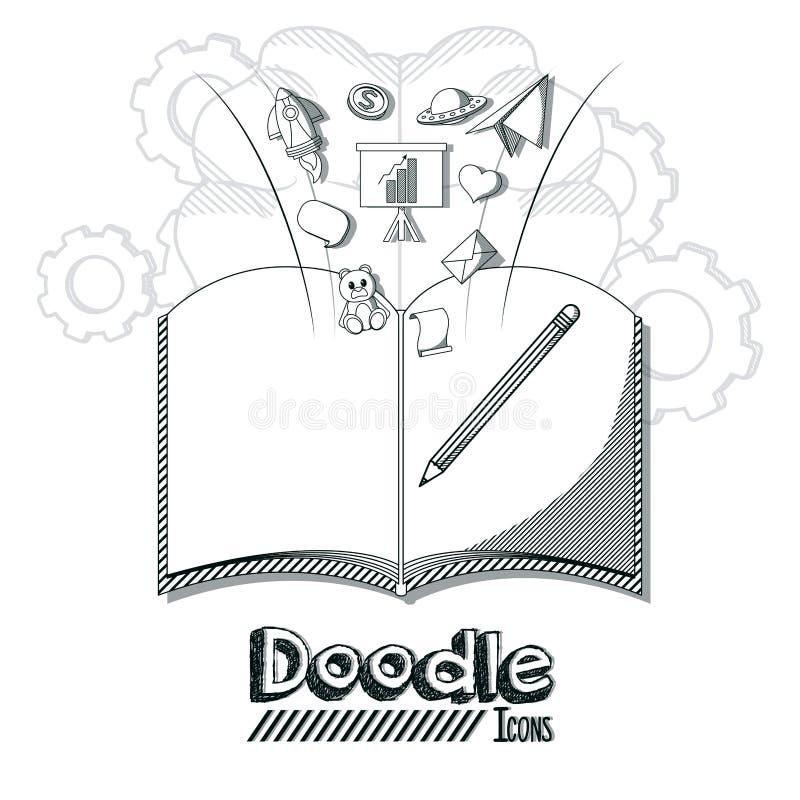 Doodle ikon kreskówki ilustracja wektor