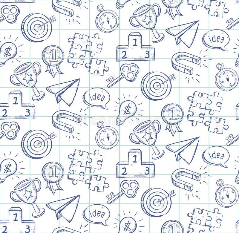Doodle kreskowego rysunku bezszwowego wzór - wektor eps8 ilustracja wektor