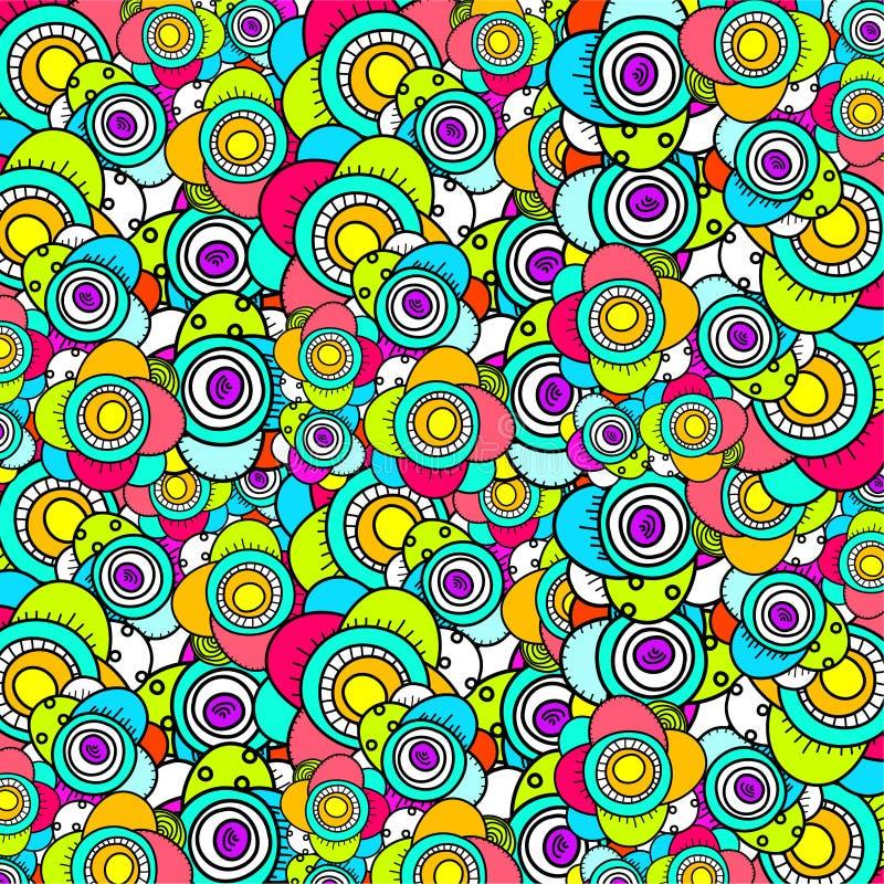 doodle kwiatu wzór ilustracja wektor