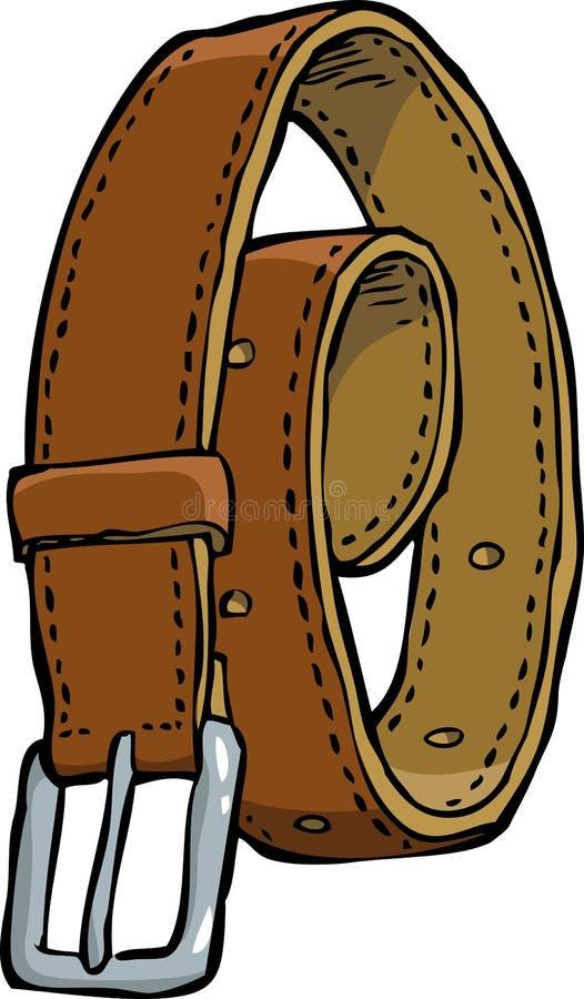 Doodle leather belt stock illustration
