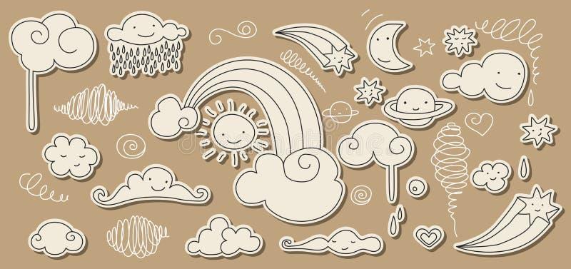 Doodle lindo del cielo libre illustration