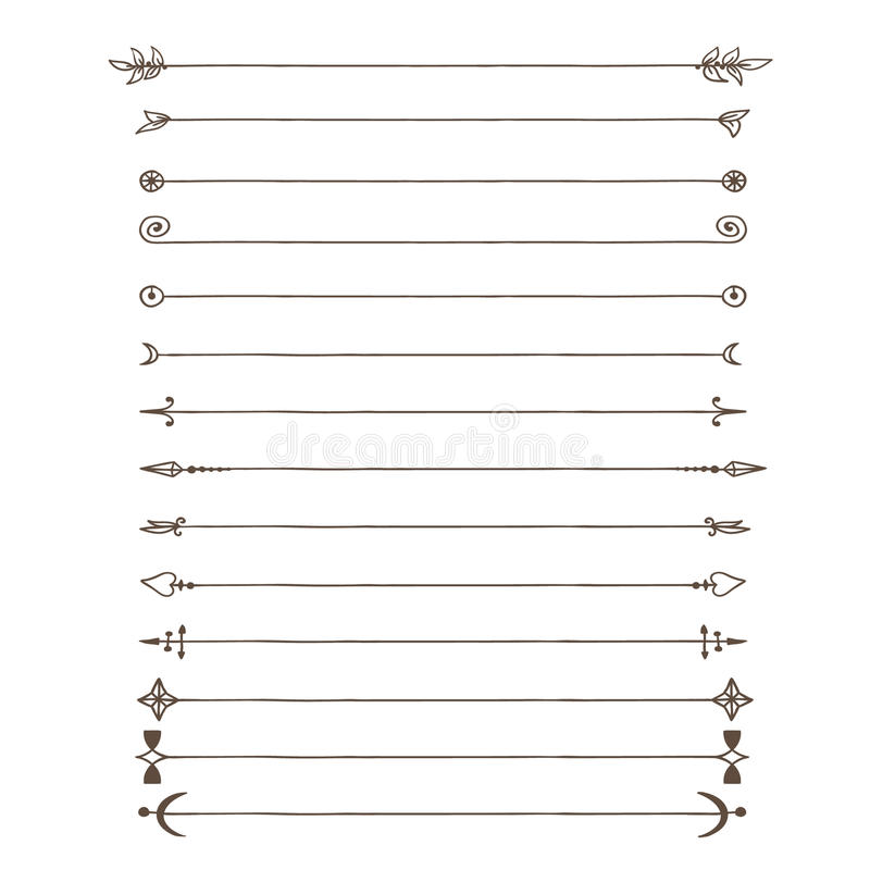 Doodle lines stock illustration