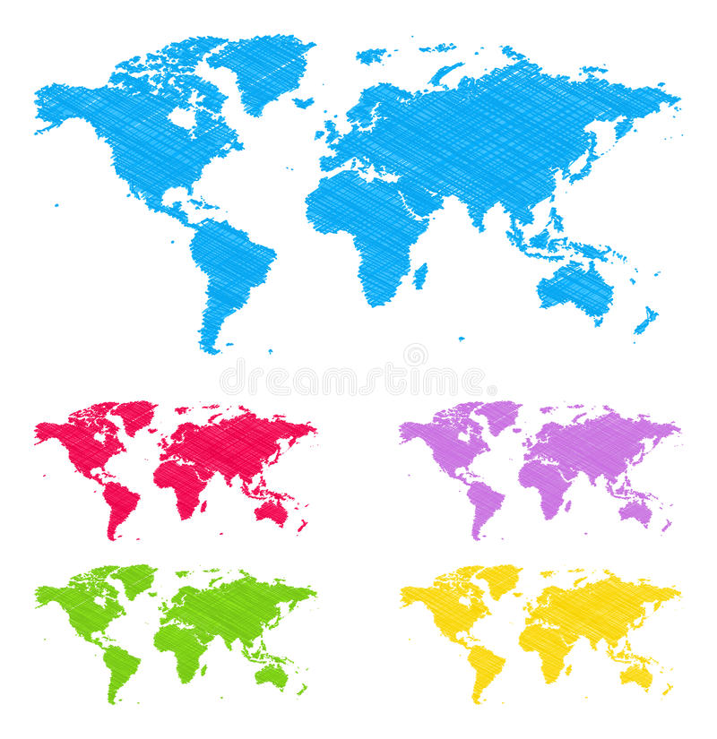 Download Doodle maps stock vector. Illustration of cartography - 25610704