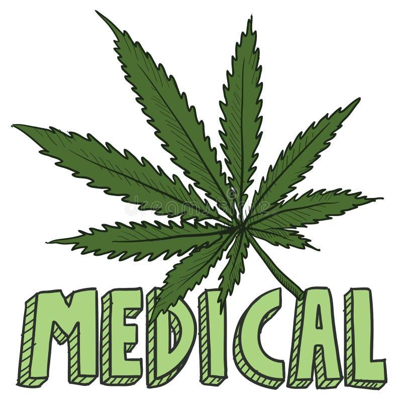 Medica marihuany nakreślenie zdjęcie stock