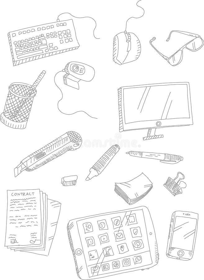 Doodle materiały i ilustracji