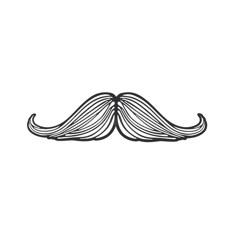 Doodle modnisia wąsy royalty ilustracja