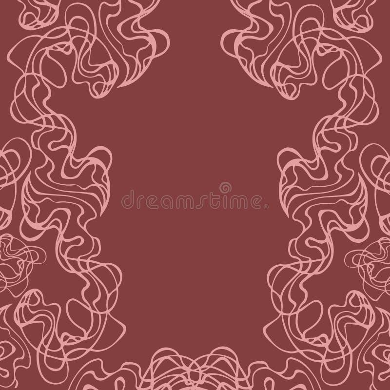 Doodle na brown ścianie w rocznika stylu wektorze, tło dla płeć sklepu projekta Intymny plakat Kabaret karta royalty ilustracja