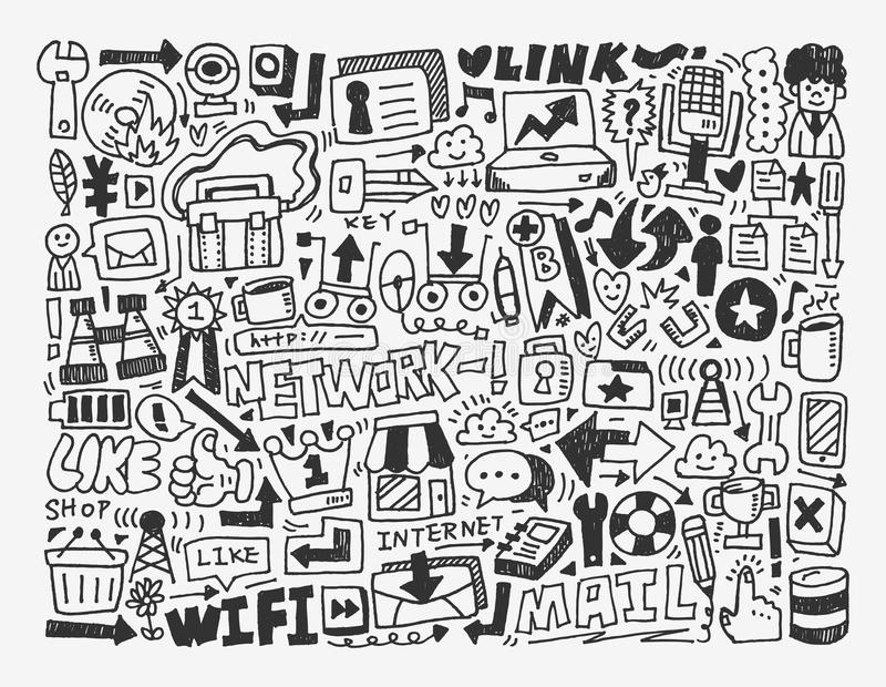 Doodle Network Element Royalty Free Stock Photo