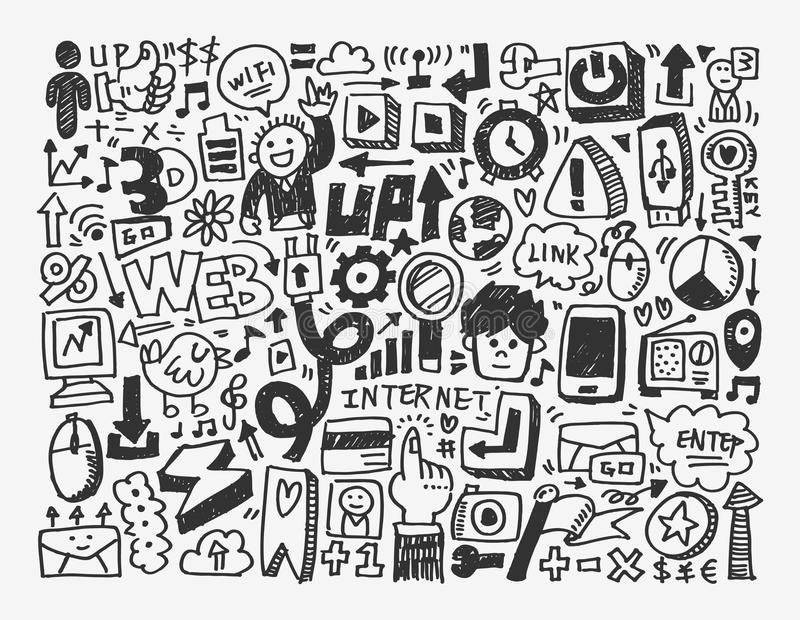 Download Doodle network element stock vector. Illustration of drawing - 31472003