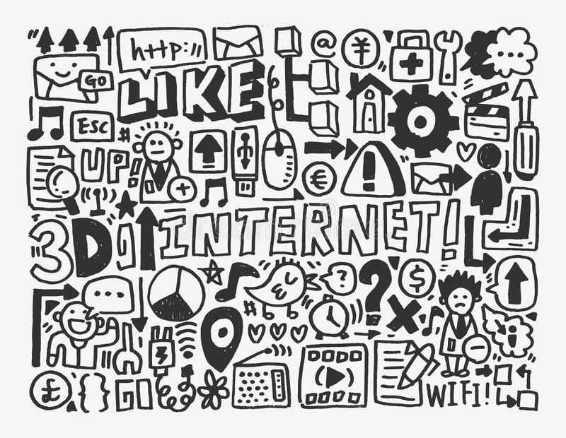 Download Doodle Network Element Royalty Free Stock Photography - Image: 31472007