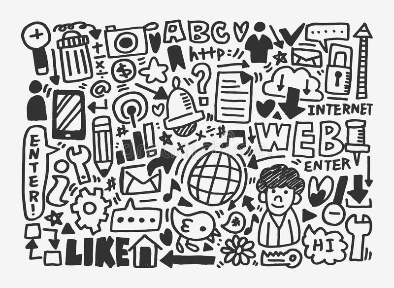 Download Doodle Network Pattern Royalty Free Stock Image - Image: 31280416