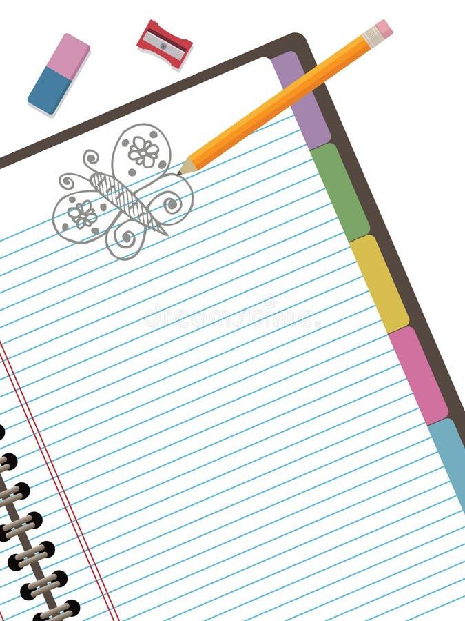 Doodle notebook vector illustration