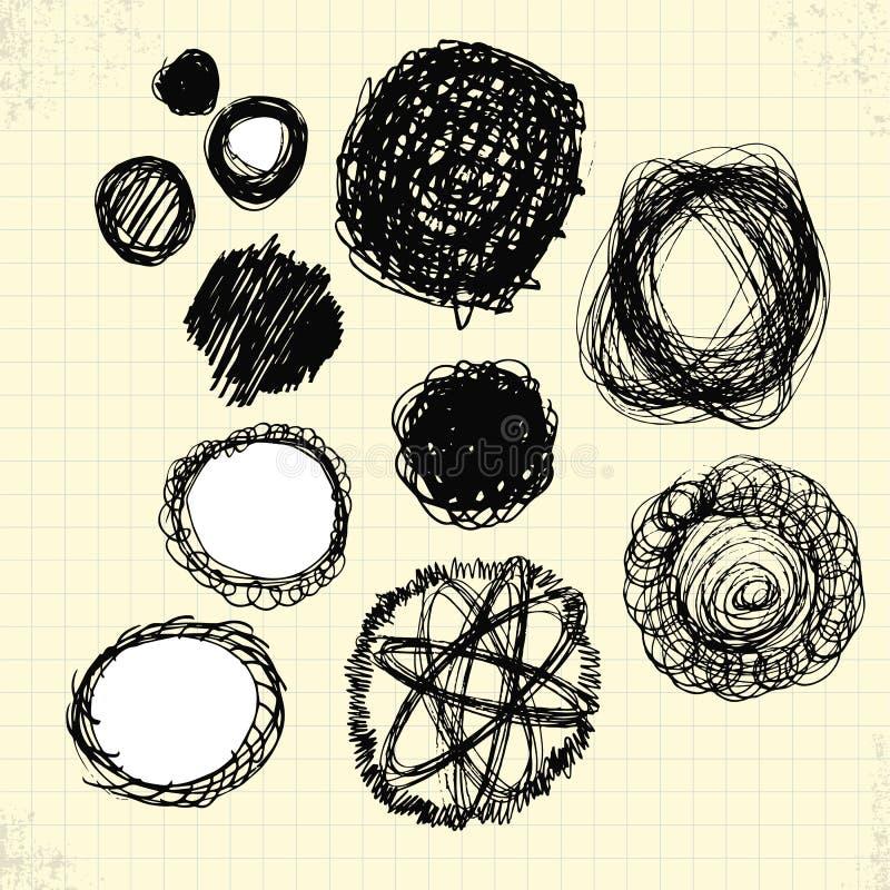 Download Doodle okręgi na papierze ilustracji. Ilustracja złożonej z piłka - 42525900
