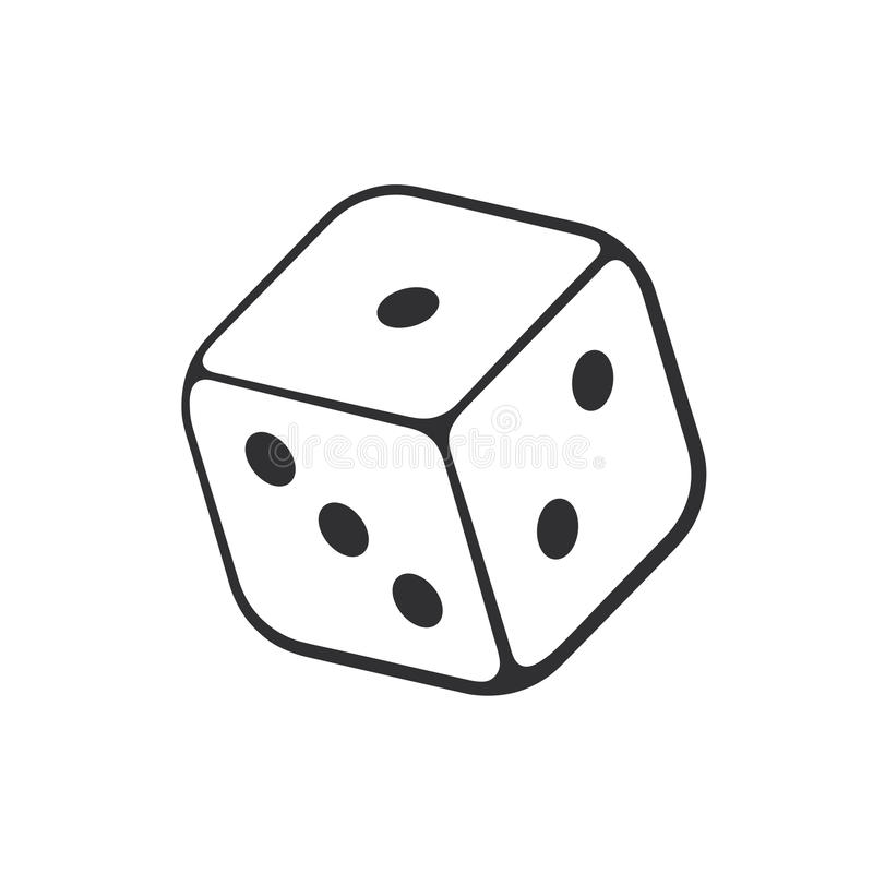 doodle of one casino dice stock vector illustration of drawn 88756231 rh dreamstime com dice vector free dice vector images