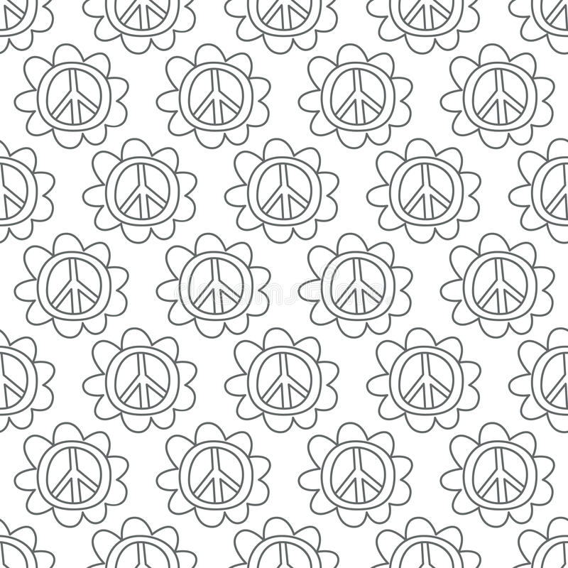 Download Doodle Peace Sign. Seamless Background. Stock Vector - Illustration: 39785371