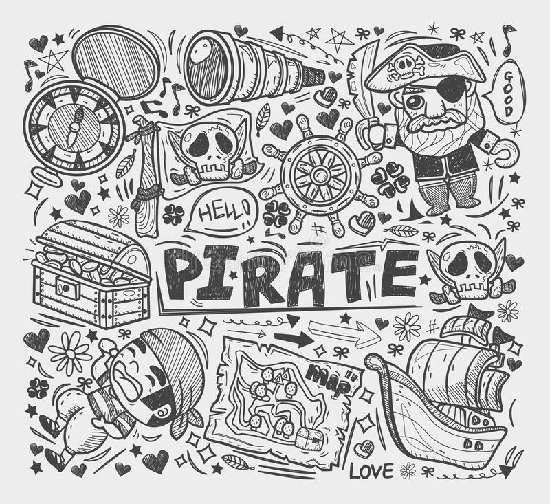 Download Doodle Pirate Elememts Stock Photo - Image: 33193120