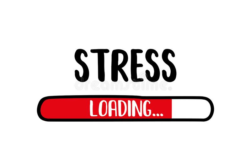 Doodle Red Download bar,stress loading text. Vector illustration vector illustration