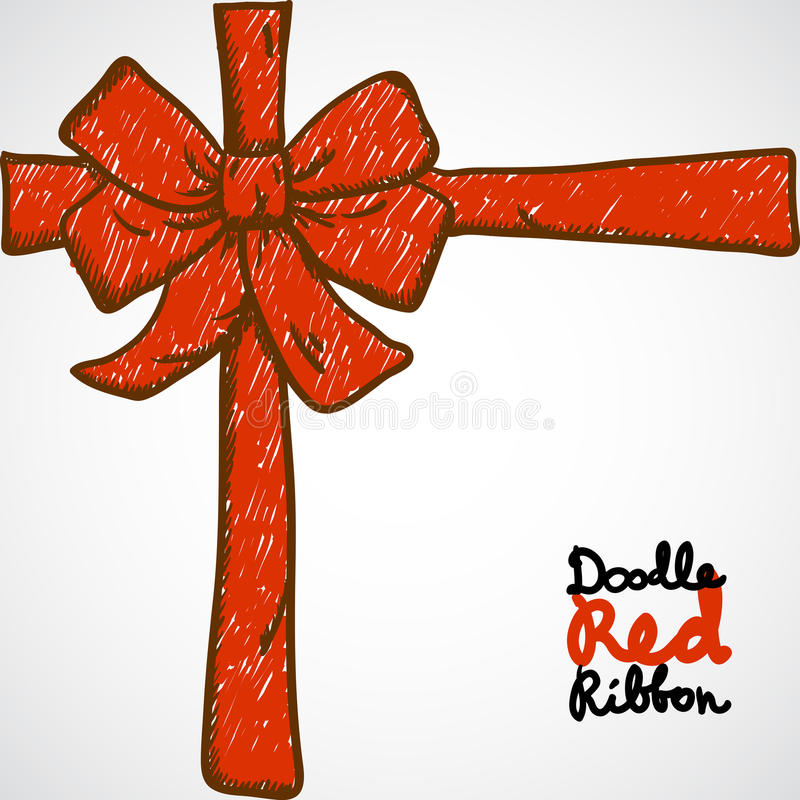 Download Doodle Red Ribbon stock illustration. Image of abstract - 28537113