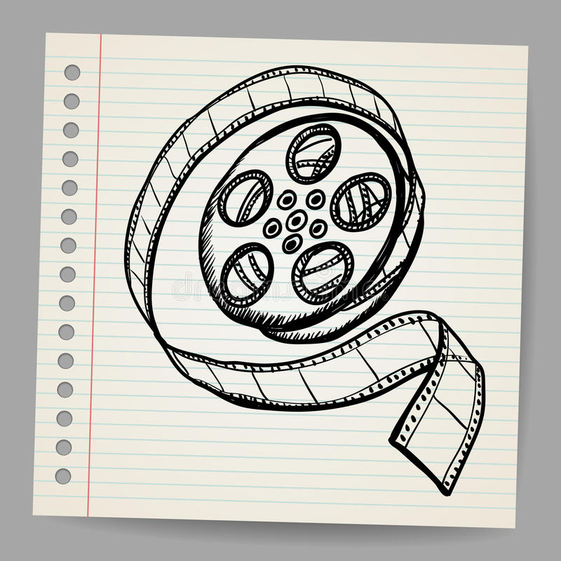 Doodle reel of film