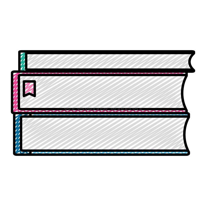 Doodle rezerwuje literatury edukacji szkolnej naczynia ilustracja wektor