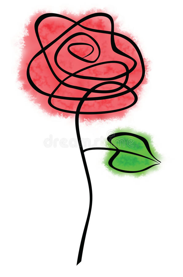 Doodle Rosa ilustração royalty free
